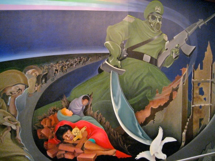 The Denver airport death mural