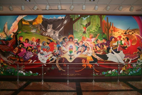 Denver airport mural illustrates how jesuits will bring for Denver mural airport