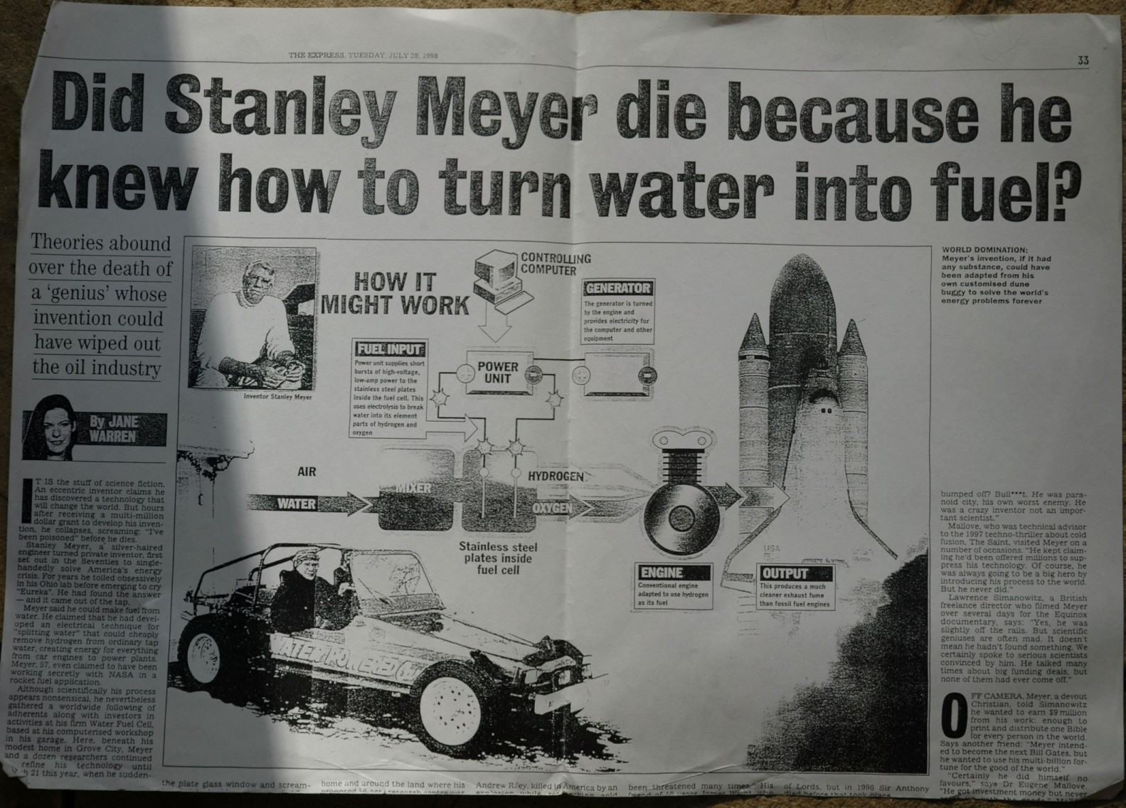 yul brown and the secret history of the water powered car engine stanleymeyerarticle