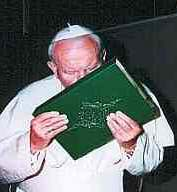 Former Pope kissing the Koran which demands the death of Christians