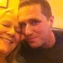 Max & his mother. Happier times.